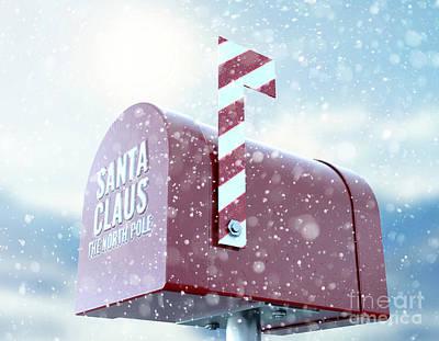 Digital Art - Santa Mailbox by Allan Swart