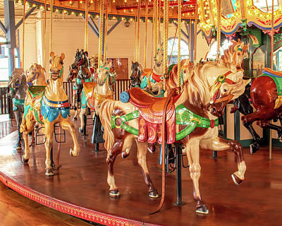 Photograph - Santa Monica Carousel 2 by Kristia Adams