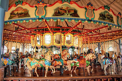 Photograph - Santa Monica Carousel 3 by Kristia Adams