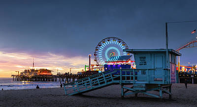Photograph - Santa Monica Lifeguard Tower 16 by Gene Parks