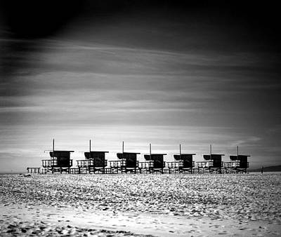 Photograph - Santa Monica Lifeguard Towers In A Row by Stephen Albanese