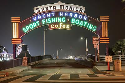 Photograph - Santa Monica Pier Entrance  by John McGraw