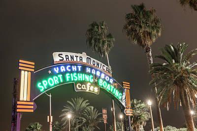 Photograph - Santa Monica Pier Sign  by John McGraw