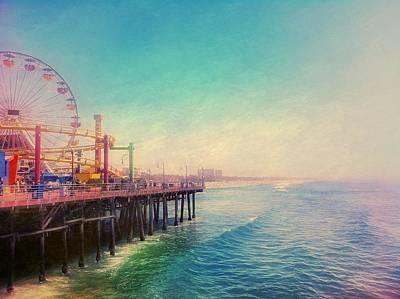 Photograph - Santa Monica Pier by Verity E. Milligan
