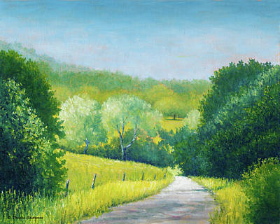 Painting - Santa Ynez Hills And Road by Douglas Castleman