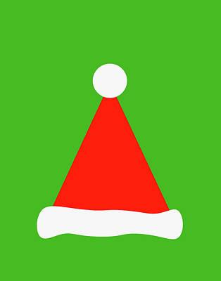 Digital Art - Santa's Hat by Peter Cutler