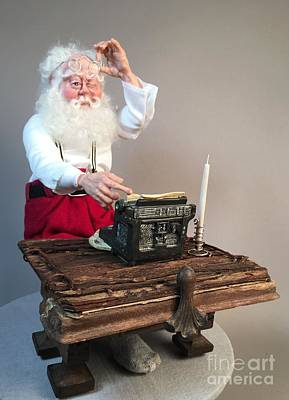Sculpture - Santas List by Cindy DeGraw