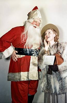 Photograph - Santas List by Michael Ochs Archives