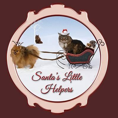 Wall Art - Digital Art - Santa's Little Helpers by Cynthia Leaphart