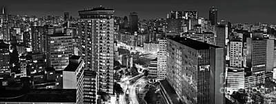Photograph - Sao Paulo Downtown By Night by Carlos Alkmin