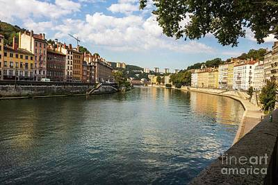 Photograph - Saone River View by Thomas Marchessault