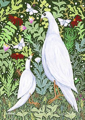 Painting - Sapientes Pacis Birds by Lise Winne