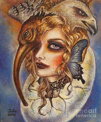 Animal Painting - Sapientia by Julie Kitamura