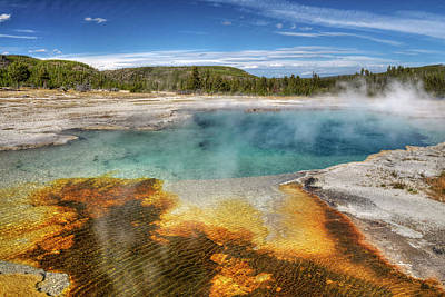 Sapphire Wall Art - Photograph - Sapphire Pool - Yellowstone by Dbushue Photography
