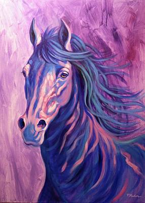 Wall Art - Painting - Sapphire by Theresa Paden