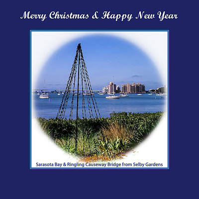 Photograph - Sarasota Bay Christmas by Susan Molnar