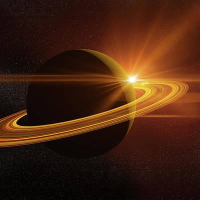 Photograph - Saturn by Teekid