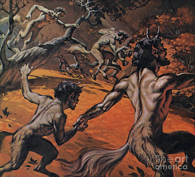 Painting - Satyrs by Angus McBride