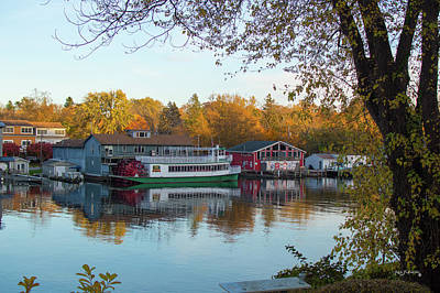 Photograph - Saugatuck Michigan Autumn Harbor 3 by Ken Figurski