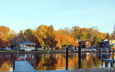 Photograph - Saugatuck Michigan Autumn Harbor 4 by Ken Figurski