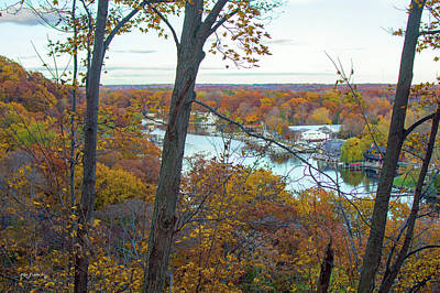 Photograph - Saugatuck Michigan Autumn Mount Baldhead 6 by Ken Figurski