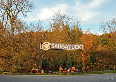 Photograph - Saugatuck Michigan Sign by Ken Figurski