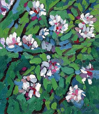 Painting - Saugeen Hillside Apple Blossoms by Phil Chadwick