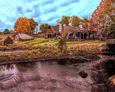 Photograph - Saugus Ironworks In Autumn by Jeff Folger