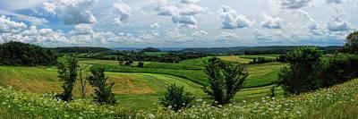 Photograph - Sauk County Farm Country Panoramic by Dale Kauzlaric