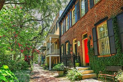 Photograph - Savannah Georgia Row Houses  by Carol Montoya