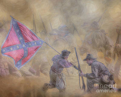 Digital Art - Saving The Flag by Randy Steele