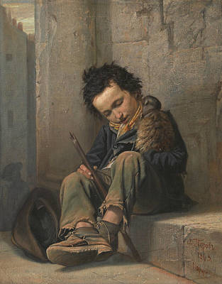 Painting - Savoyard by Vasily Perov