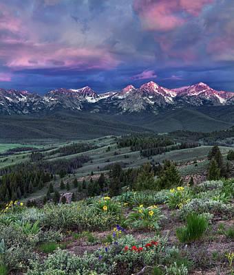 Photograph - Sawtooth Sunrise by Leland D Howard