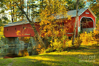 Photograph - Sawyers Crossing Covered Bridge by Adam Jewell