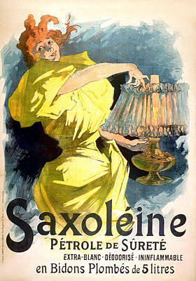 Painting - Saxoleine 1894 Vintage French Advertising by Vintage French Advertising