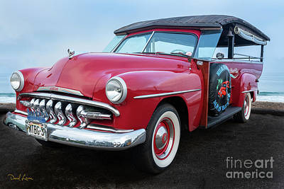 Photograph - Say Hello To My Red 1950 Desoto Hilo Sampan Woodie by David Levin
