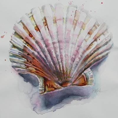 Painting - Scallop Seashell by Tracy Male