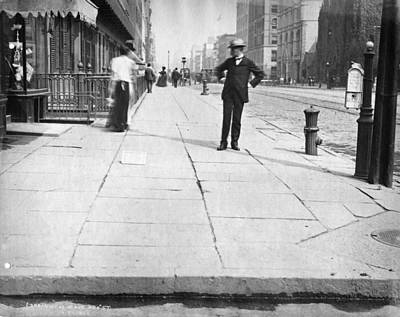 Painting - Scan Of Cyanotype Print Of Interborough Rapid Transit Construction 1900 by Celestial Images