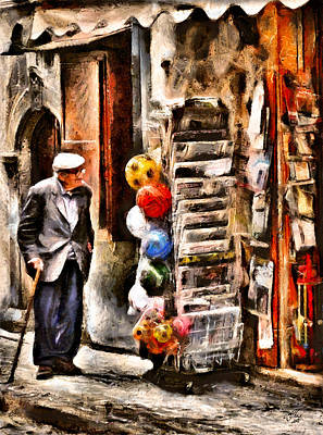 Digital Art - Scanno, Strada Abrami by Andreas Theis