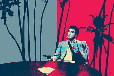 Digital Art - Scarface - Tony Montana - The Guy With A Gun by Serge Averbukh