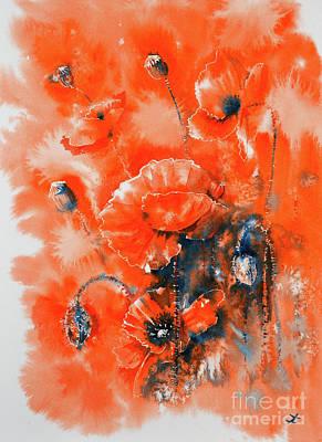 Painting - Scarlet Harmony  by Zaira Dzhaubaeva