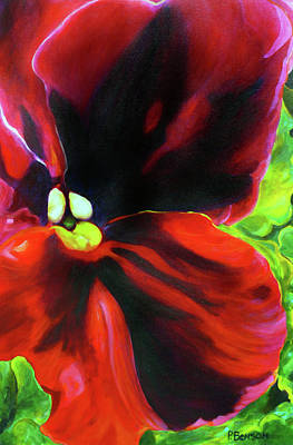 Painting - Scarlet Pansy by Patricia Benson