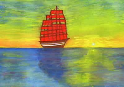 Painting - Scarlet Sails by Irina Dobrotsvet