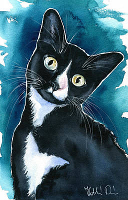 Painting - Scarlet Tuxedo Kitten Painting by Dora Hathazi Mendes