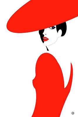 Wall Art - Digital Art - Scarlet Woman 1 by Digital Painting