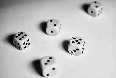 Photograph - Scattered Dices by Lukas Kerbs