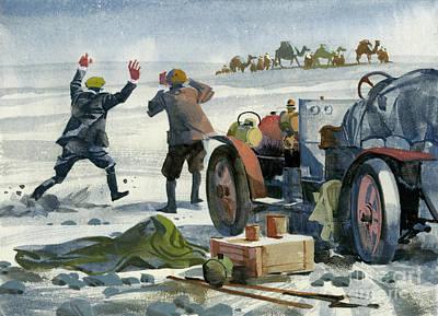 Painting - Scene During Ten Thousand Mile Motor Race by Ferdinando Tacconi