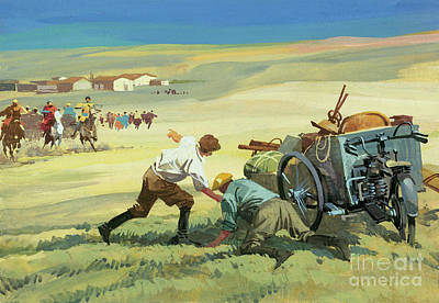 Painting - Scene From A Ten Thousand Mile Motor Race by Ferdinando Tacconi