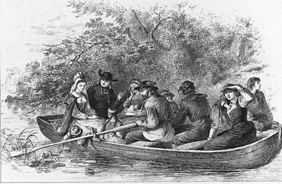 Scene From Longfellows Evangeline Art Print by Kean Collection
