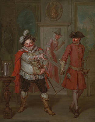 Painting - Scene From Shakespeare's Henry Iv, Part I by Marcellus Laroon the Younger